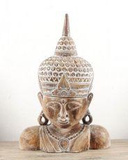 Socha - maska -  Buddha 82 cm -  bytová dekorace, dřevořezba Indonésie  ID1602504