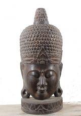 Socha - maska  Buddha 100 cm  - bytová dekorace, dřevořezba Indonésie  ID1600501