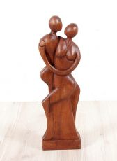 Socha MILENCI abstrakt, dekorace 50 cm, dřevo Indonésie ID1605109