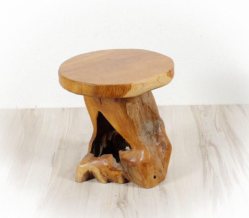 Stolička MUSHROOM teakové dřevo - ID1600401