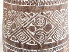 Váza kokosová palma s řezbou 120 cm, atraktivní interiérová dekorace z Indonésie ID1600201