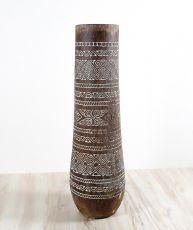 Váza kokosová palma s řezbou 120 cm,  Indonésie ID1600201