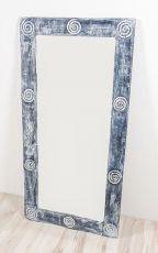 Zrcadlo s dřevěným dekorativním rámem, ruční práce  ID1600902-02