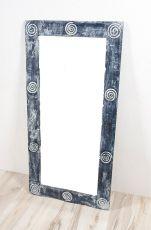 Zrcadlo s dřevěným dekorativním rámem, ruční práce - ID1600902-02
