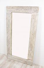 Zrcadlo s dřevěným vyřezávaným rámem 130 x 80 cm, ruční práce  ID1601405
