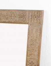 Zrcadlo s dřevěným vyřezávaným rámem 130 x 80 cm, ruční práce - ID1601403