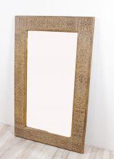 Zrcadlo s dřevěným vyřezávaným rámem 130 x 80 cm, ruční práce  ID1601403