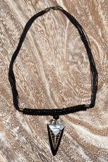 Náhrdelník perličkový - provázkový - s přívěškem  IS0001-036