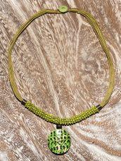 Náhrdelník perličkový - provázkový -  s přívěškem  IS0001-037