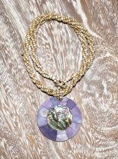 Náhrdelník perličkový - provázkový -  s přívěškem  IS0001-047