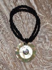Náhrdelník perličkový - provázkový -  s přívěškem  IS0001-050