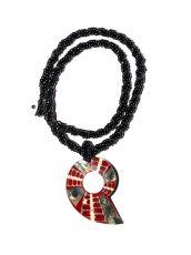 Náhrdelník perličkový - provázkový -  s přívěškem  IS0001-063