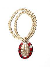 Náhrdelník perličkový - provázkový -  s přívěškem  IS0001-064