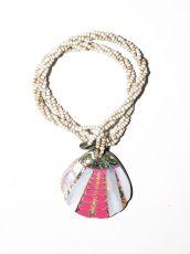 Náhrdelník perličkový - provázkový -  s přívěškem  IS0001-065