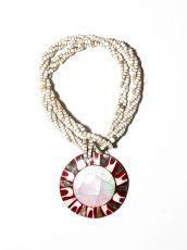 Náhrdelník perličkový - provázkový -  s přívěškem  IS0001-066