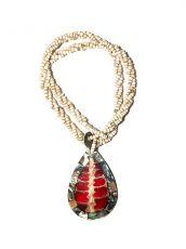 Náhrdelník perličkový - provázkový -  s přívěškem  IS0001-068