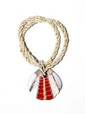 Náhrdelník perličkový - provázkový -  s přívěškem  IS0001-067