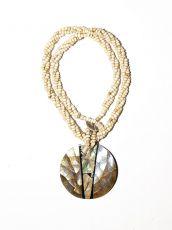 Náhrdelník perličkový - provázkový -  s přívěškem  IS0001-071
