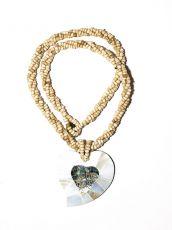 Náhrdelník perličkový - provázkový -  s přívěškem  IS0001-070