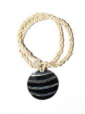 Náhrdelník perličkový - provázkový -  s přívěškem  IS0001-072