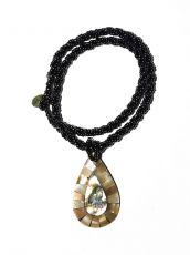 Náhrdelník perličkový - provázkový -  s přívěškem  IS0001-075