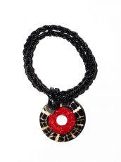 Náhrdelník perličkový - provázkový -  s přívěškem  IS0001-076