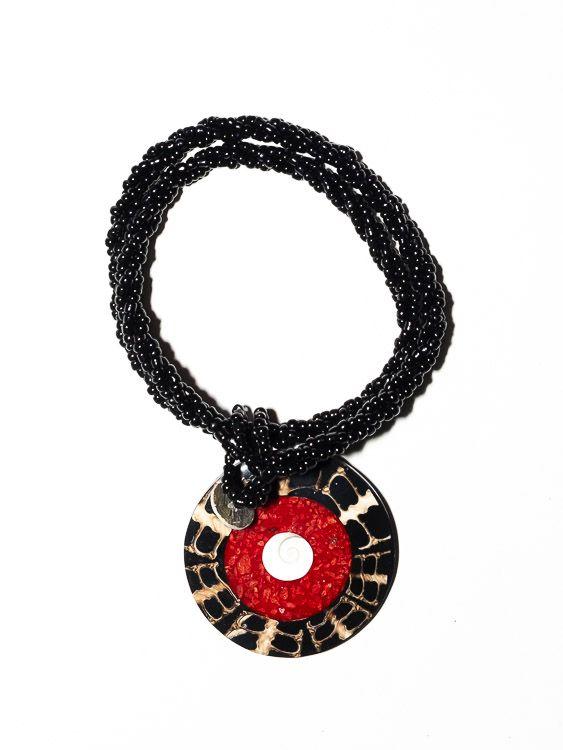 Náhrdelník perličkový s přívěškem - IS0001-076