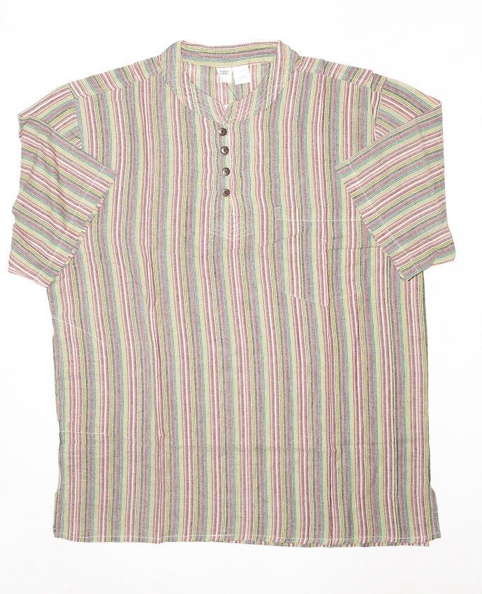 Pánská košile s krátkým rukávem Nepál NT0009 02 018 KENAVI