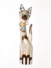 Soška KOČKA  62 cm, Indonésie  ID1603002-01