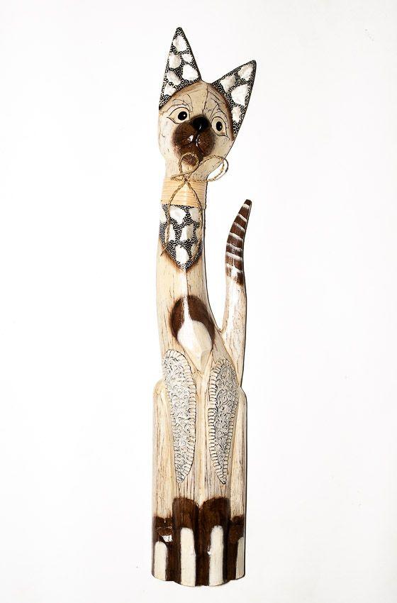 Soška KOČKA 82 cm, Indonésie - ID1603002-02