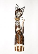 Soška KOČKA  62 cm, Indonésie  ID1603004-01