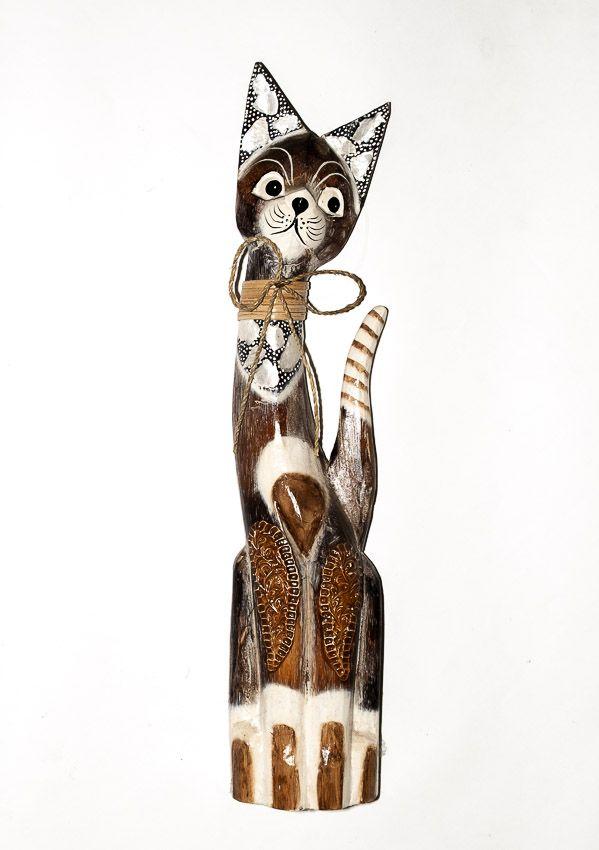 Soška KOČKA 62 cm, Indonésie - ID1603004-01