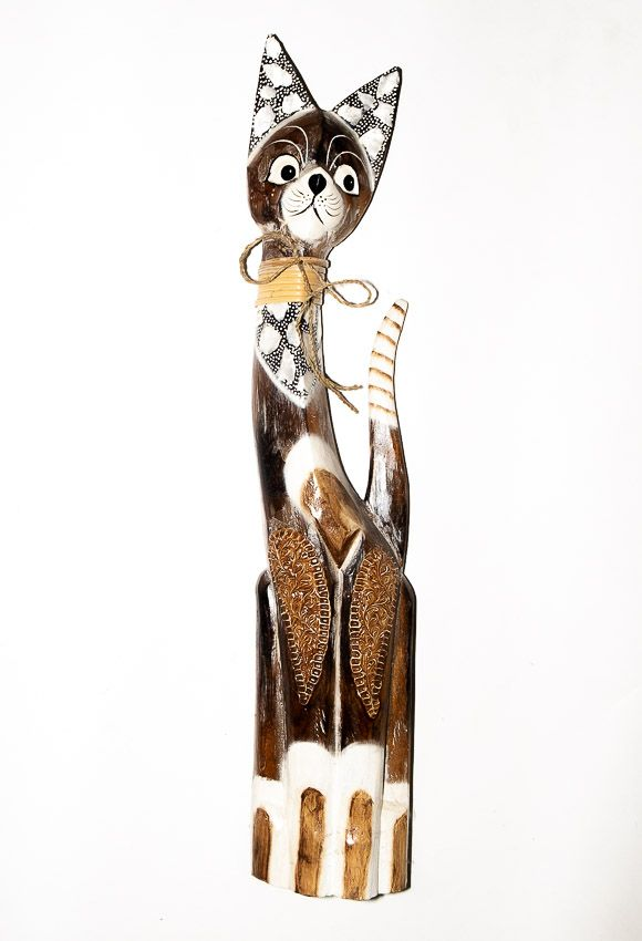 Soška KOČKA 82 cm, Indonésie - ID1603004-02