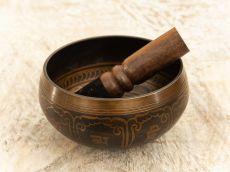 Tibetská zpívající miska prům. 13 cm s paličkou, Nepál  ND0009-097
