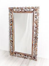 Zrcadlo s dřevěným vyřezávaným rámem 100 x 60 cm, ruční práce  ID1601702B