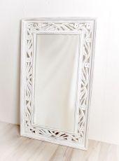 Zrcadlo s dřevěným vyřezávaným rámem 100 x 60 cm, ruční práce  ID1601705