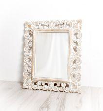 Zrcadlo s rámem z recyklovaného dřeva 108 x 78 cm, ruční práce  ID1601704