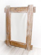 Zrcadlo s rámem z recyklovaného dřeva 108 x 78 cm, ruční práce  ID1607801