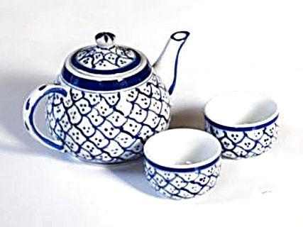 Keramická čajová konvice malovaná