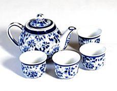 Keramická čajová souprava malovaná