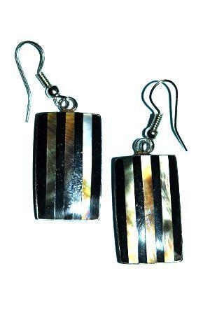 Ocelové náušnice vykládané peletí IS0018 006