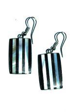 Ocelové náušnice vykládané perletí