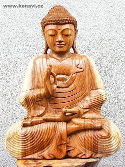 Socha Buddha 30 cm dřevo Indonésie ID1702807