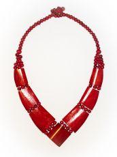 Dřevěný náhrdelník BONE  IS0042-01-026