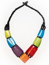 Dřevěný náhrdelník BONE  IS0042-01-028