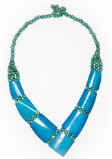Dřevěný náhrdelník BONE  IS0042-01-029