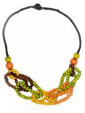 Dřevěný náhrdelník RETRO  IS0042-01-023