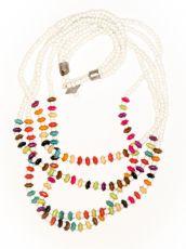 Dřevěný náhrdelník RETRO  IS0042-01-024