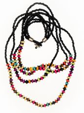Dřevěný náhrdelník RETRO  IS0042-01-025