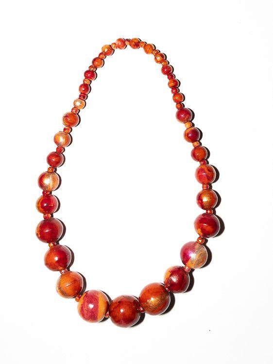Dřevěný náhrdelník TWO TONES - IS0042-02-004